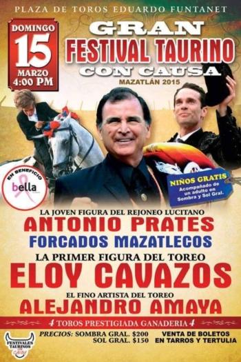 António Prates em Mazatlán dia 15 de Março