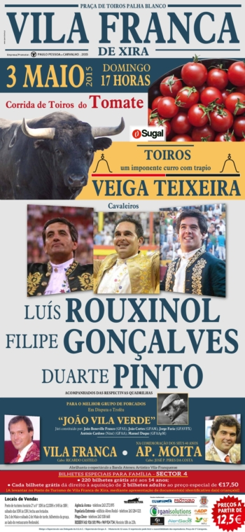 Cartaz de Vila Franca de Xira dia 3 de Maio
