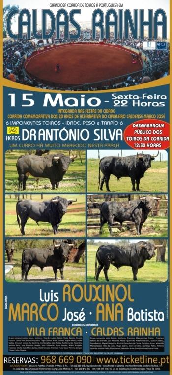 Sexta-feira dia 15 - os Imponentes António Silva nas Caldas da Rainha