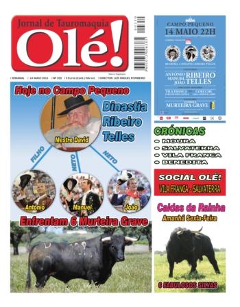 Capa do jornal Ole nº350 - hoje nas bancas!
