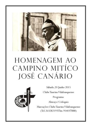 Homenagem ao Campino José Canário