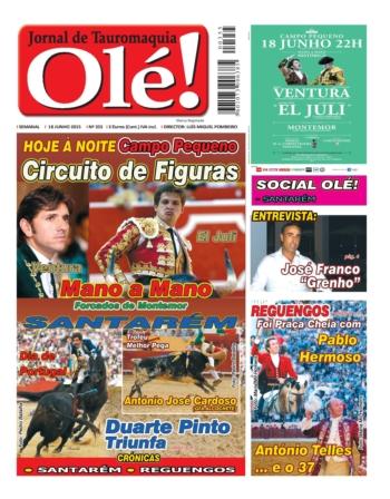 A capa do Olé nº 355 - Hoje nas bancas!