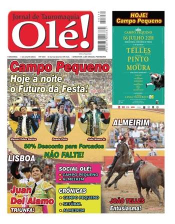 Capa do Jornal Olé número 359 - Amanhã nas bancas!