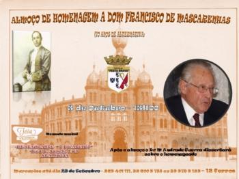 Tertulia Festa Brava homenageia Dom Francisco de Mascarenhas