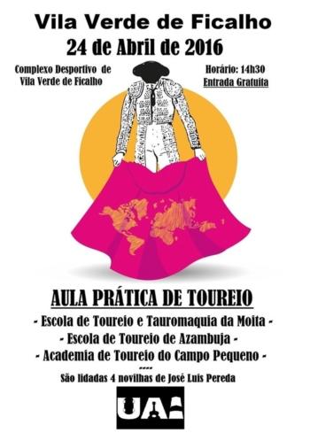 Aula Prática de toureio em Vila Verde de Ficalho adiada para Abril devido ao mau tempo