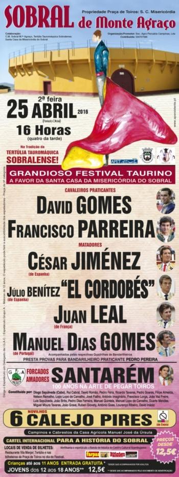 Cartaz do Festival Taurino Misto em Sobral de Monte Agraço
