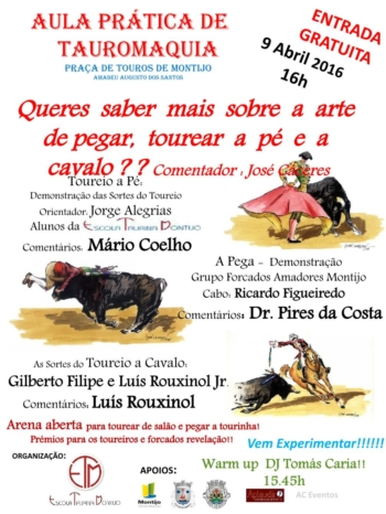 Aula Prática de Toureio promovida pela Escola de Toureio de Montijo