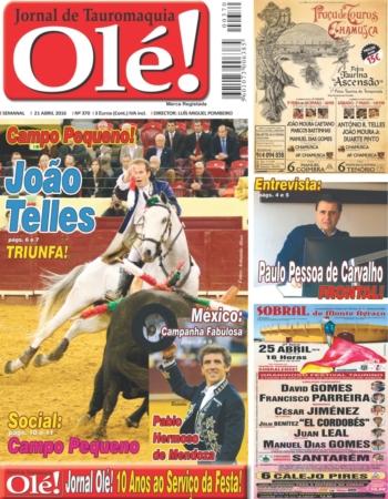 Jornal Olé nº 370 - amanhã nas bancas