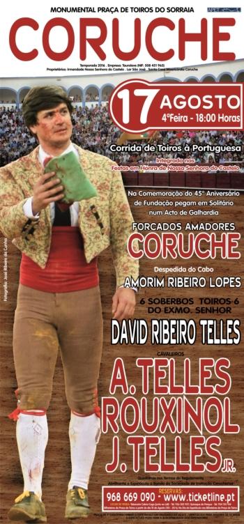 Cartel de figuras na despedida de Amorim Ribeiro Lopes em Coruche