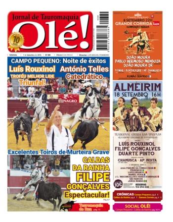 Capa da edição 389 do Jornal Olé!