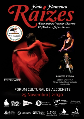 Espectáculo Raízes - 25 de Novembro, pelas 21h30 no Fórum Cultural de Alcochete