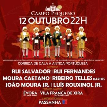 Cartel da corrida de Gala à Antiga Portuguesa no Campo Pequeno