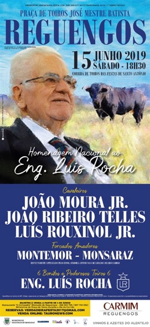 Reguengos - Homenagem ao Eng. Luís Rocha
