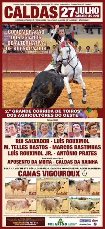 SEIS JABONEROS DE CANAS VIGOROUX PARA A CORRIDA DE CALDAS DA RAINHA