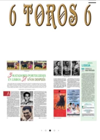 Matadores portugueses em grande destaque na revista 6toros6